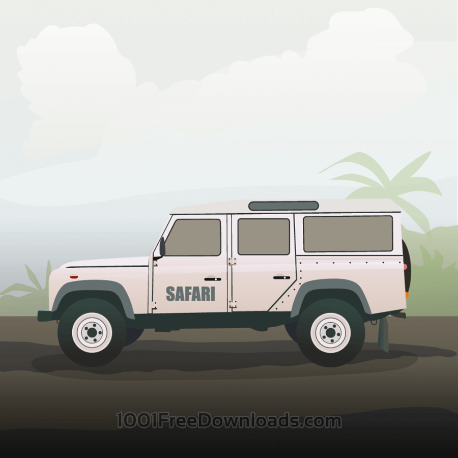 Free Vectors: Safari truck | Nature