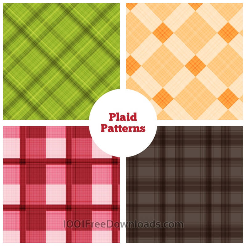 Free Vectors: Plaid Vector Patterns | Abstract