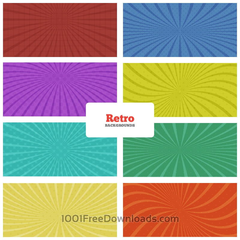 Free Retro Backgrounds Set