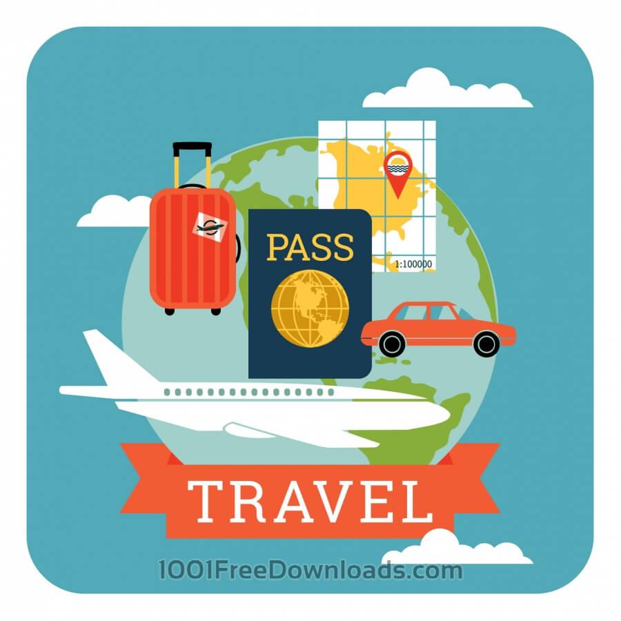 Free Vectors: Travel illustration | Abstract
