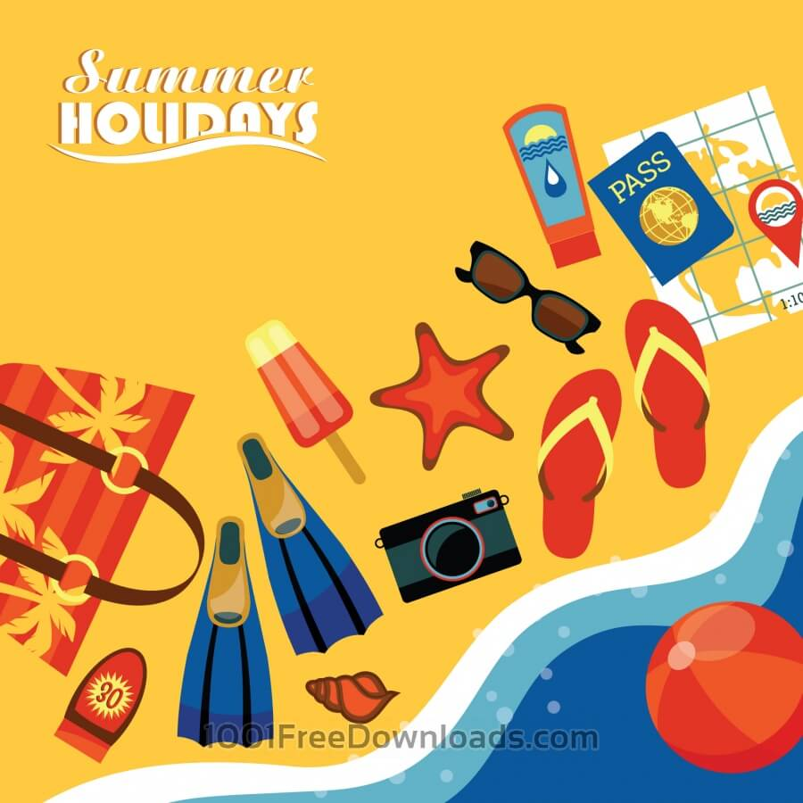 Free Summer illustration.