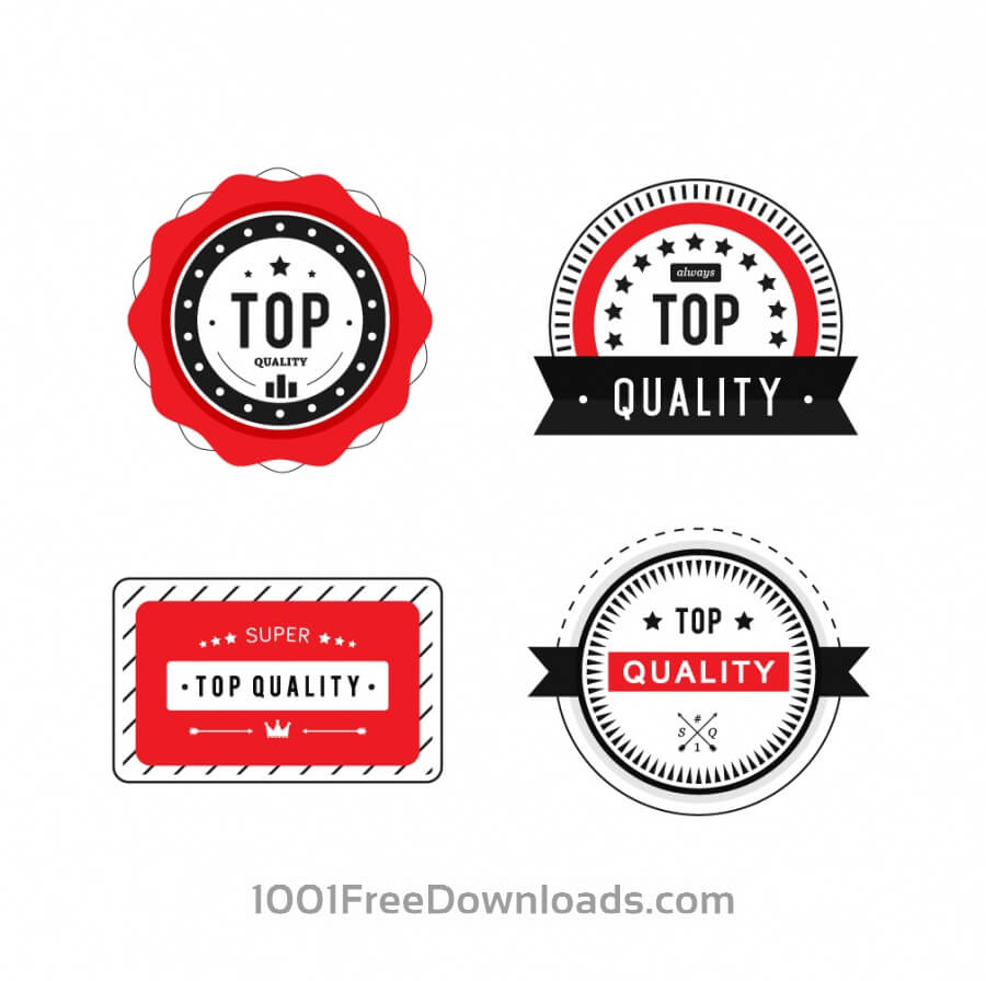 Free Vectors: Top Quality Badges | Vintage