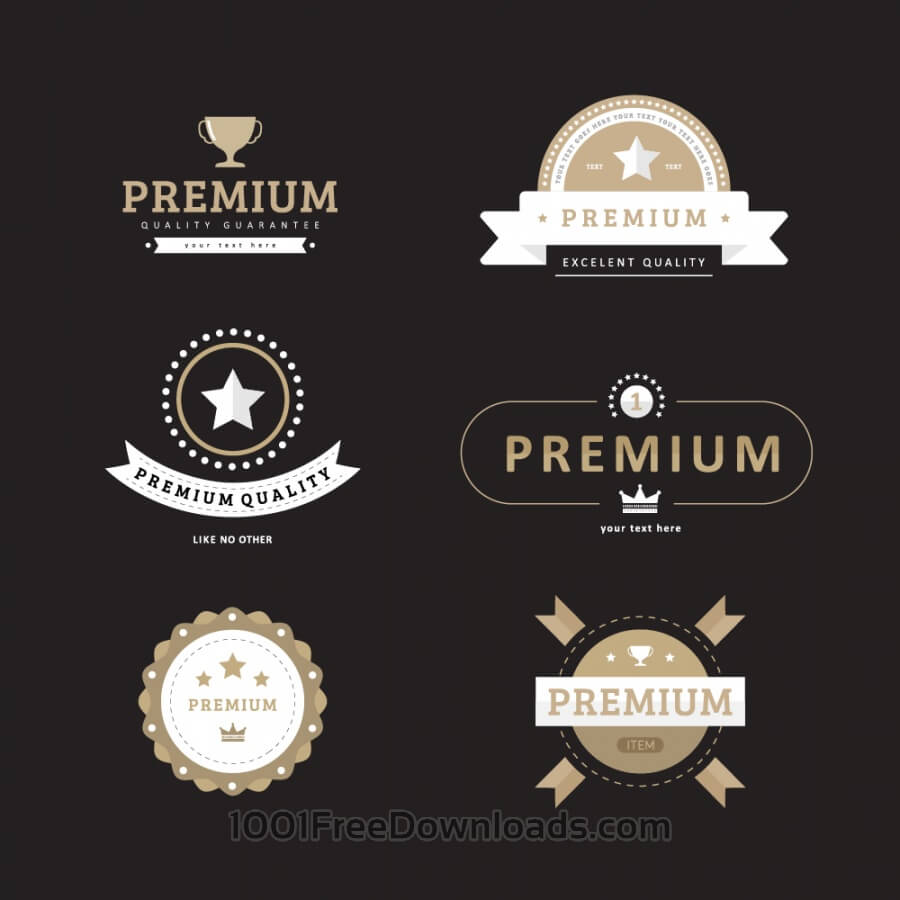Free Vectors: Premium Quality Badges | Icons