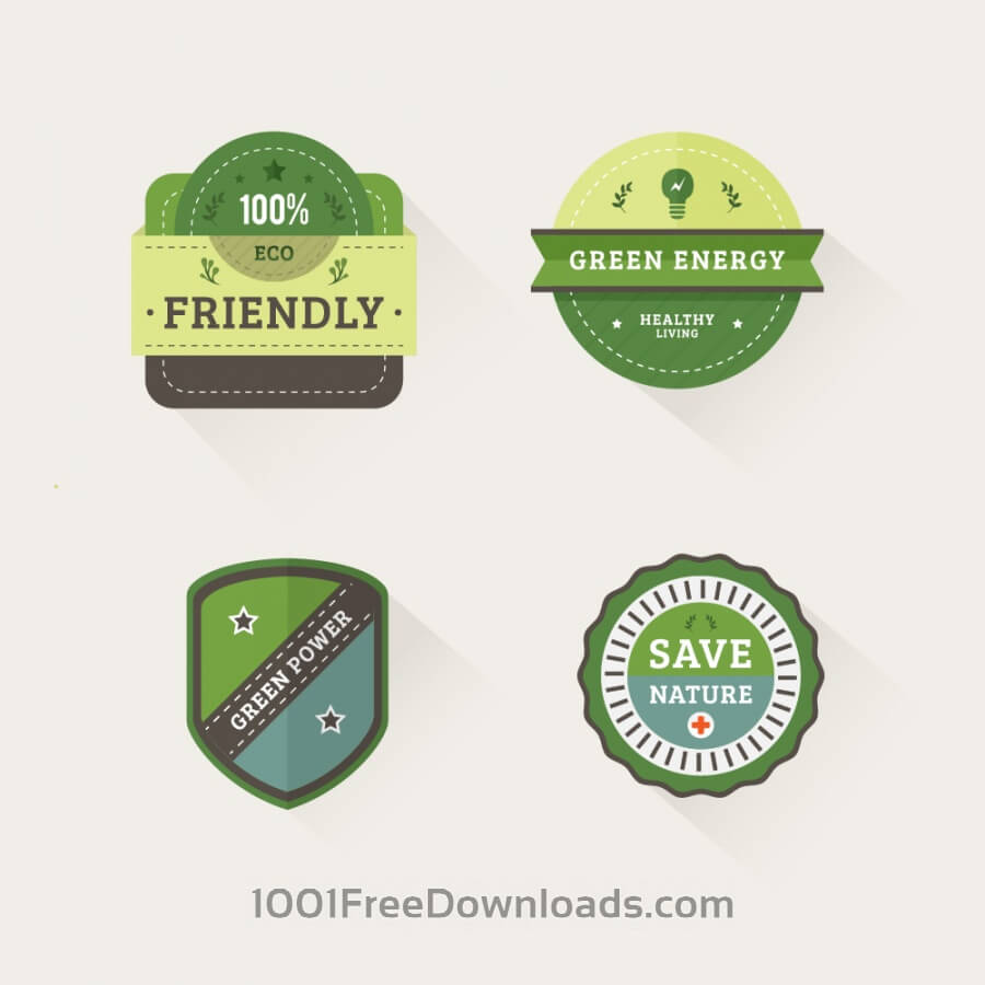 Free Vectors: Nature Badges | Icons