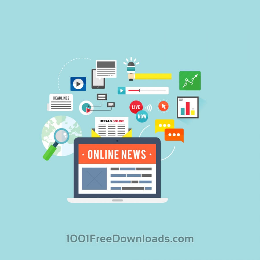 Free Vectors: Online News | Objects
