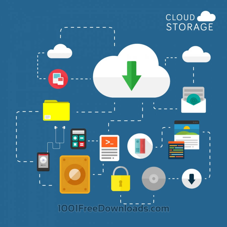 Free Vectors: Cloud Storage | Icons