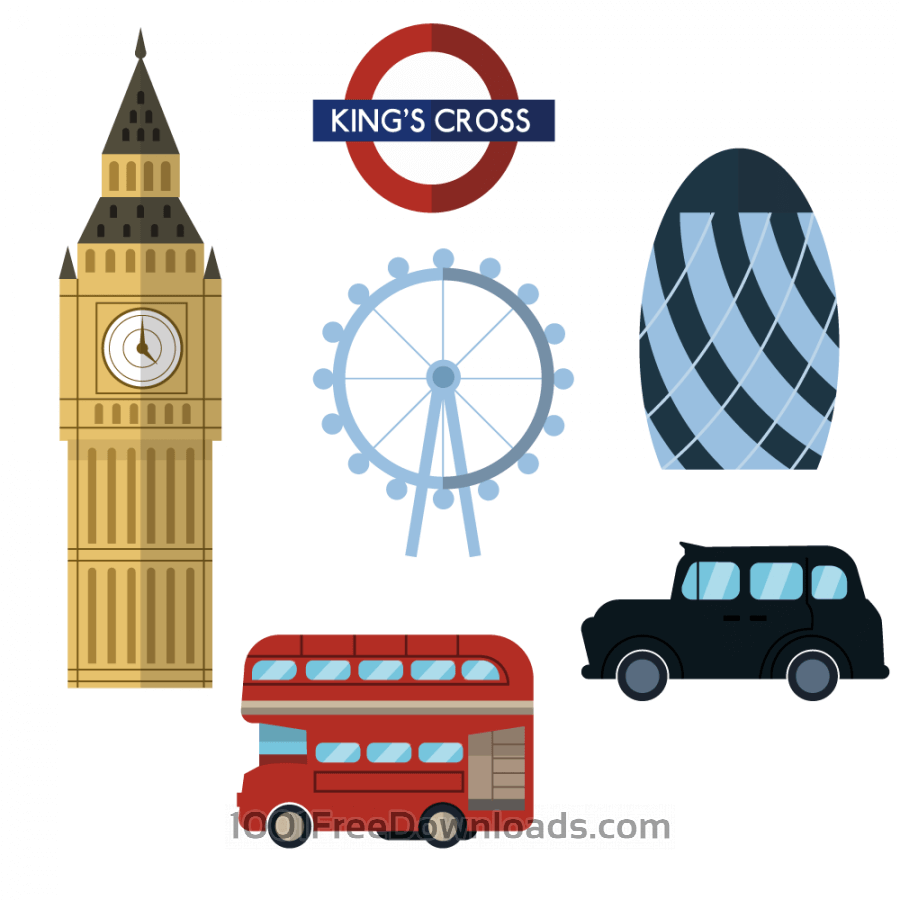 Free Vectors: London icons and elements | Cities