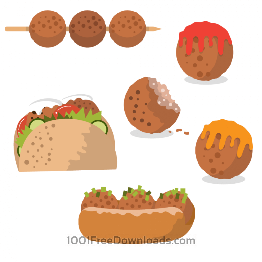 Free Tasty meatball vectors
