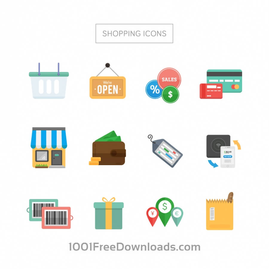 Free Vectors: Shopping Icons | Icons
