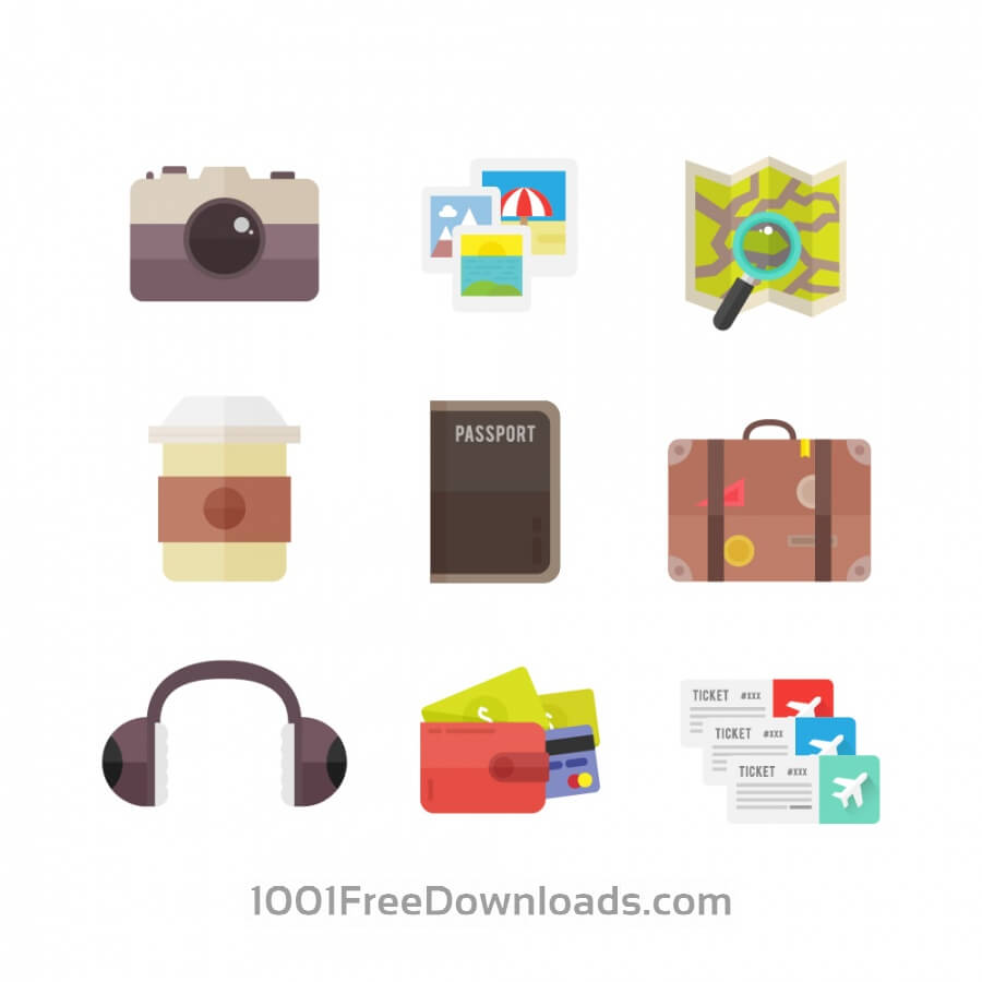Free Vectors: Travel Icons | Icons