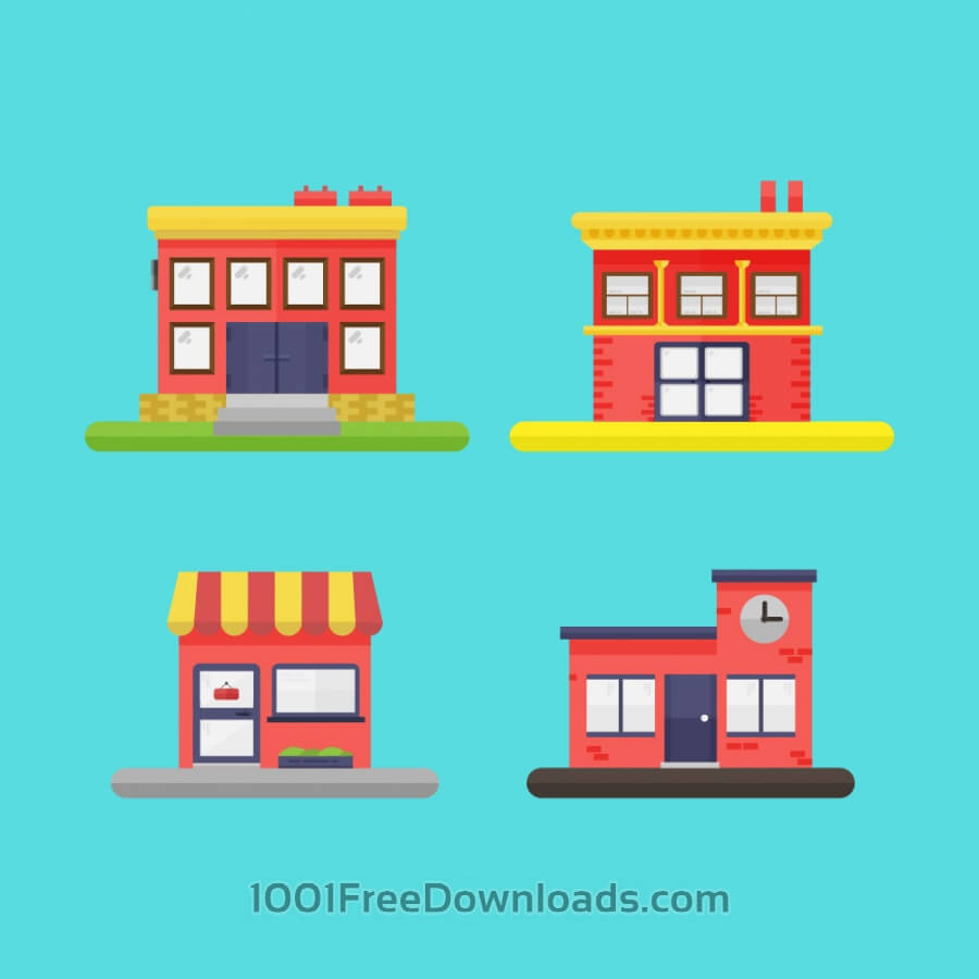 Free Vectors: Building Icons | Icons