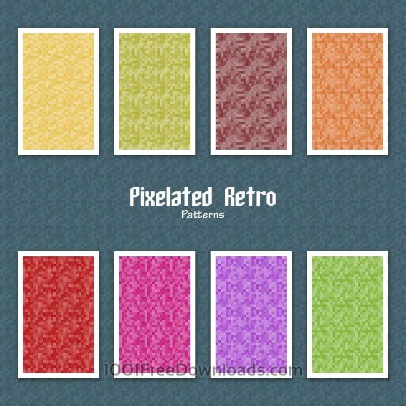 Free Vectors: Pixelated Retro Patterns | Abstract