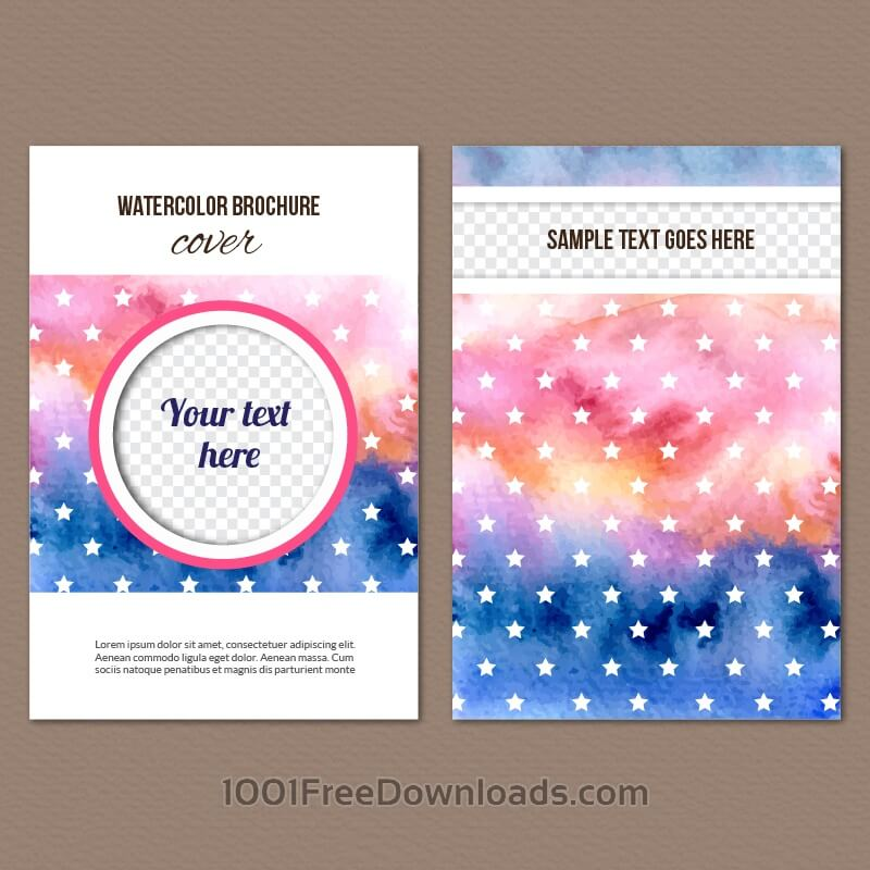 Free Vectors: Watercolor cover | Abstract