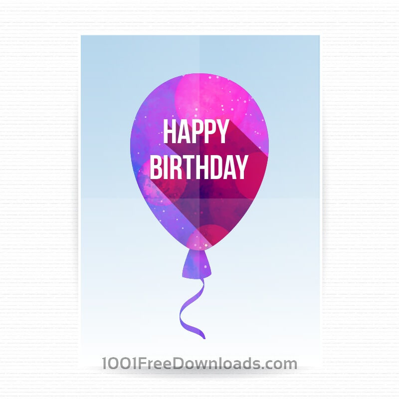 Free Happy birthday poster