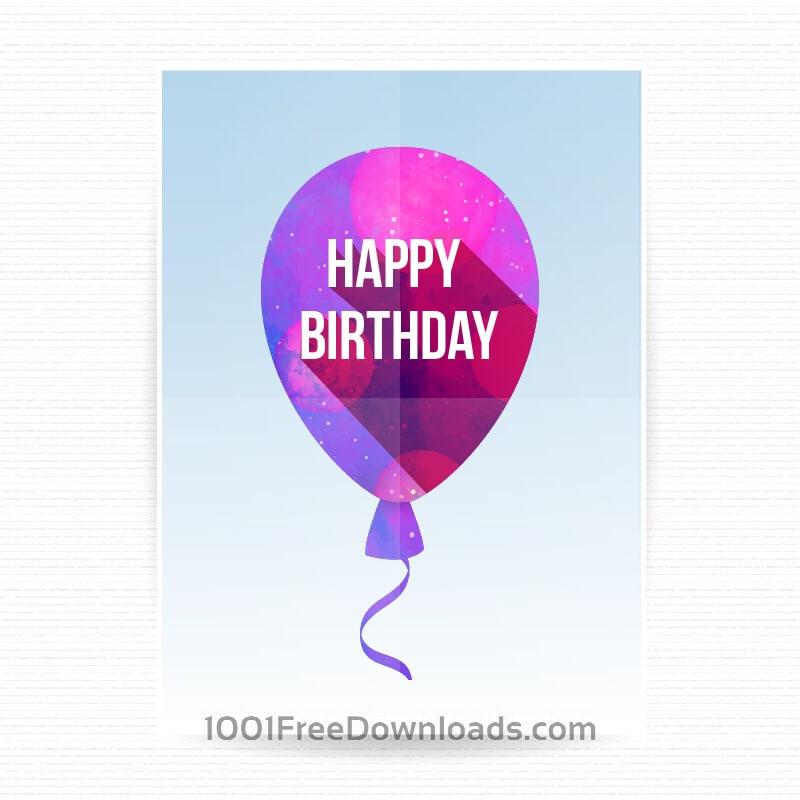 Free Vectors: Happy birthday poster | Backgrounds