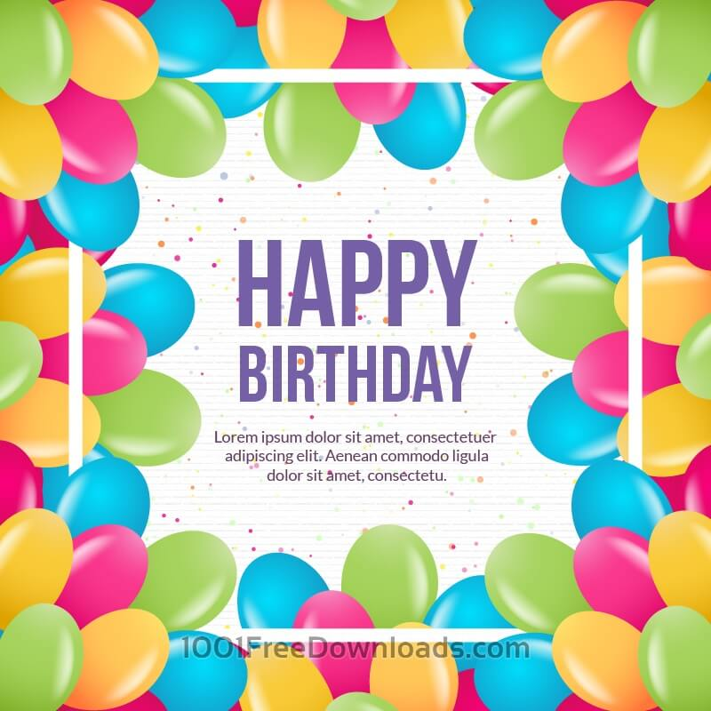 Free Vectors: Happy birthday vector illustration | Backgrounds