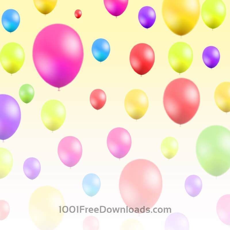 Free Vectors: Abstract illustration with balloons | Abstract