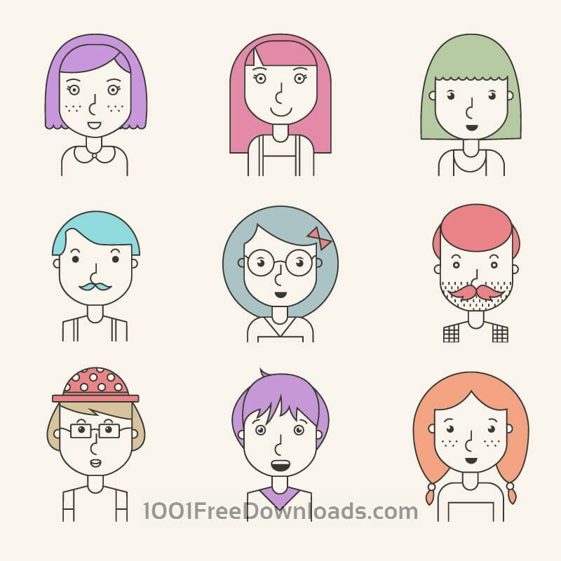 Free Vectors: People icons | Backgrounds