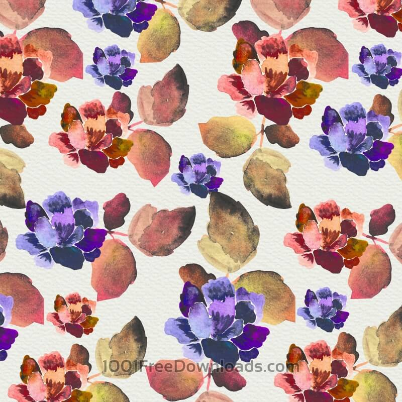 Free Watercolor background with vintage flowers