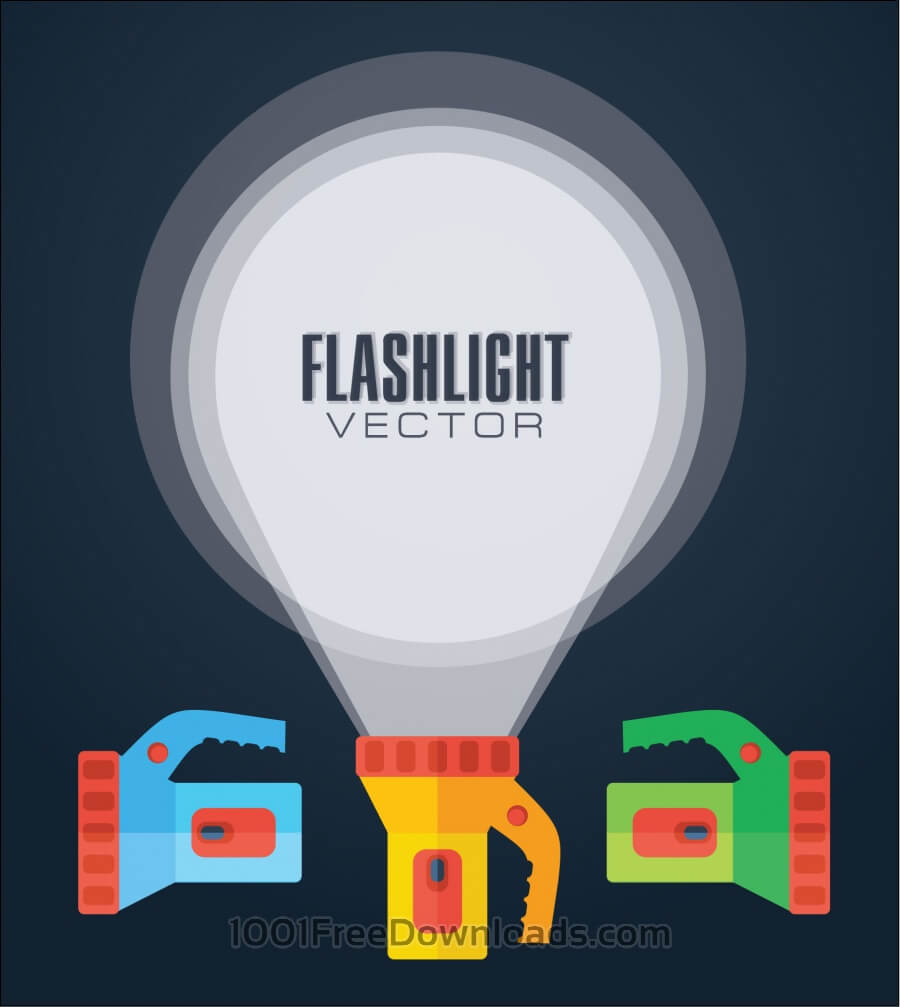Flat vector illustration flashlight.