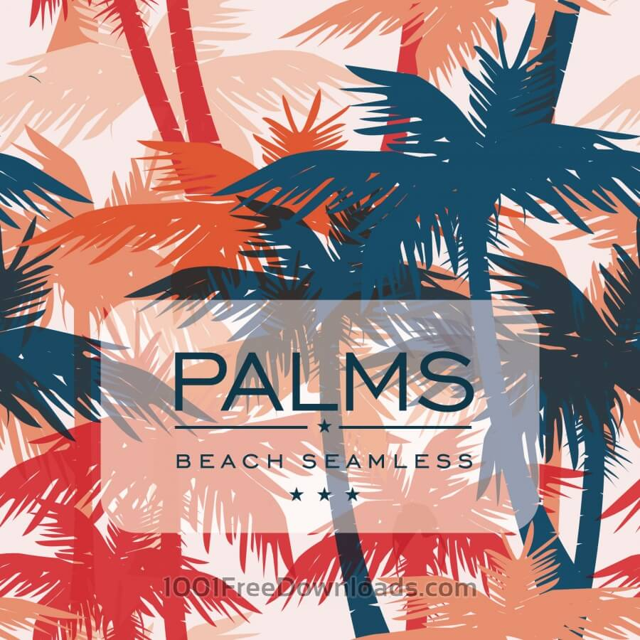 Free Vector seamless pattern with palm trees