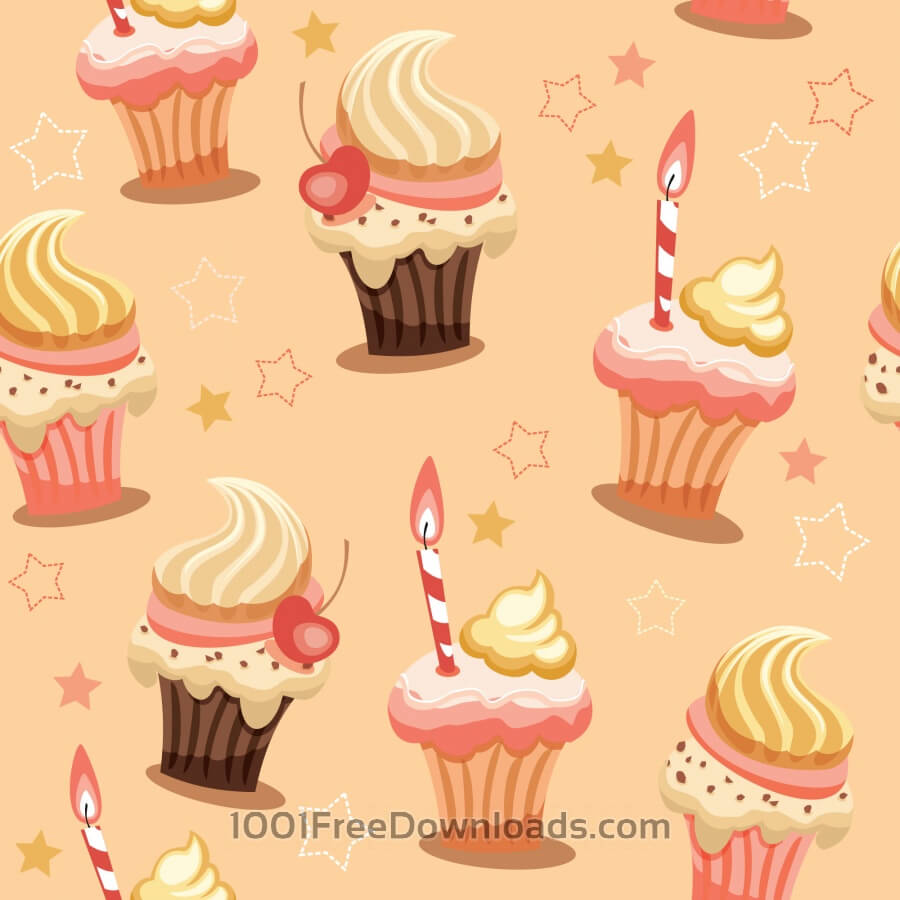 Free Vectors: Sweet seamless background with cakes | Abstract