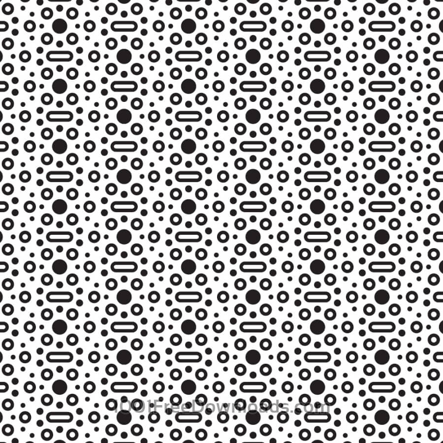 Free Black and White Rounded Dot Pattern