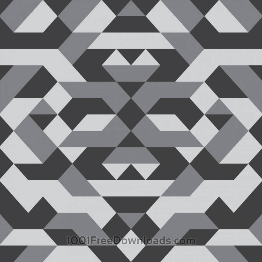 Free Geometric Grayscale Pattern