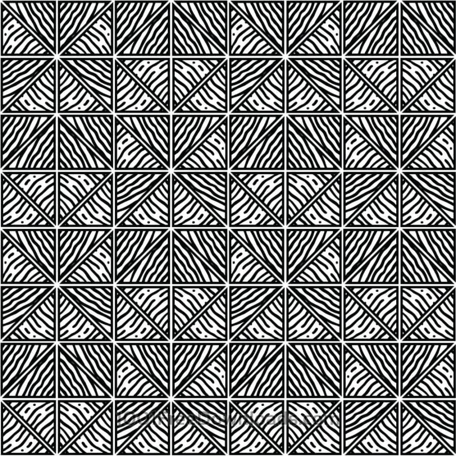 Free Hand Drawn Black and White Geometric Pattern