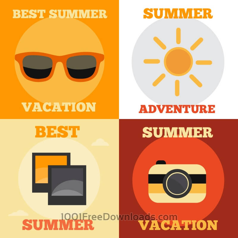Free Vectors: Summer Vacation Icons | Icons