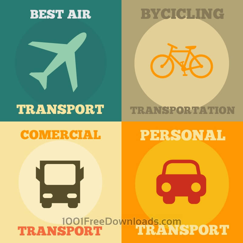 Free Vectors: Transport Icons Set | Abstract