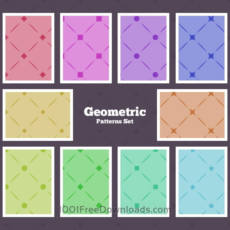 Free Seamless Geometrical Patterns