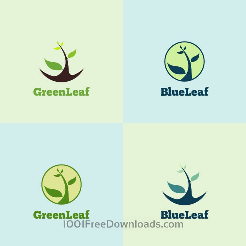 Free Vectors: Green Leaf Logo | Abstract