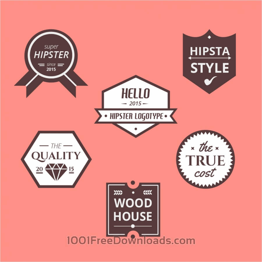Free Retro Vintage Icons or Logotypes set. Vector design elements, business signs, logos, identity, labels, badges and objects