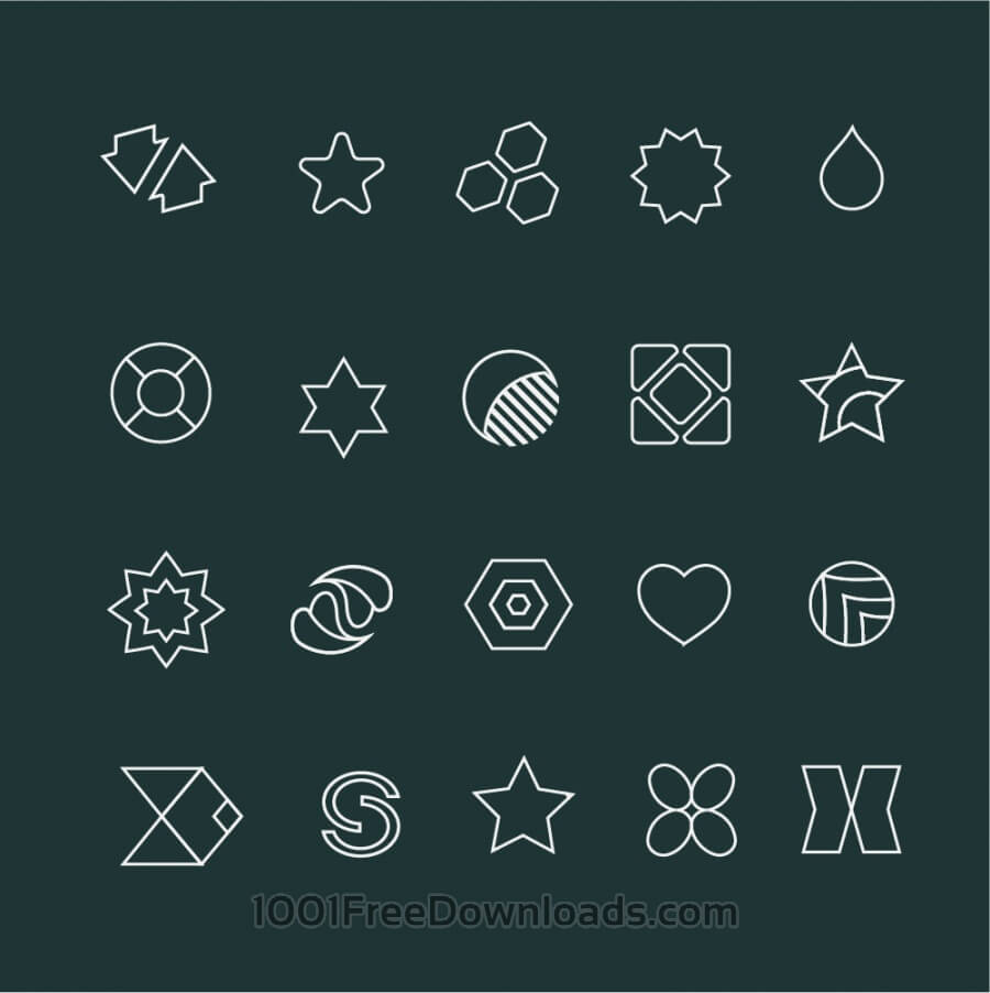 Free Vectors: Set of hight quality vector icons. Free Vector Illustration Design. | Abstract