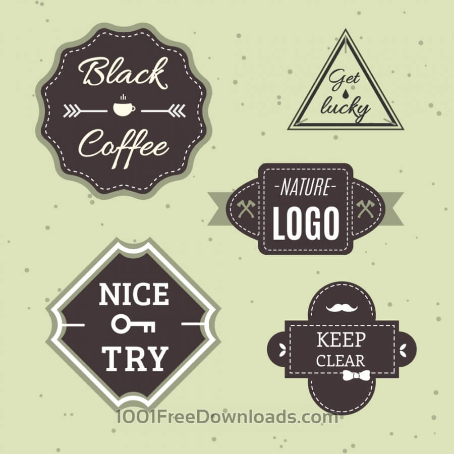 Free Vectors: Retro Vintage Icons or Logotypes set. Vector design elements, business signs, logos, identity, labels, badges and objects | Abstract