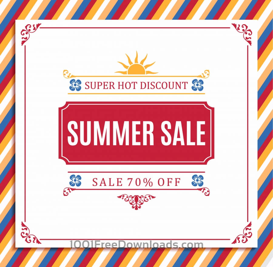 Free Vectors: Summer sale abstract blur background. | Abstract