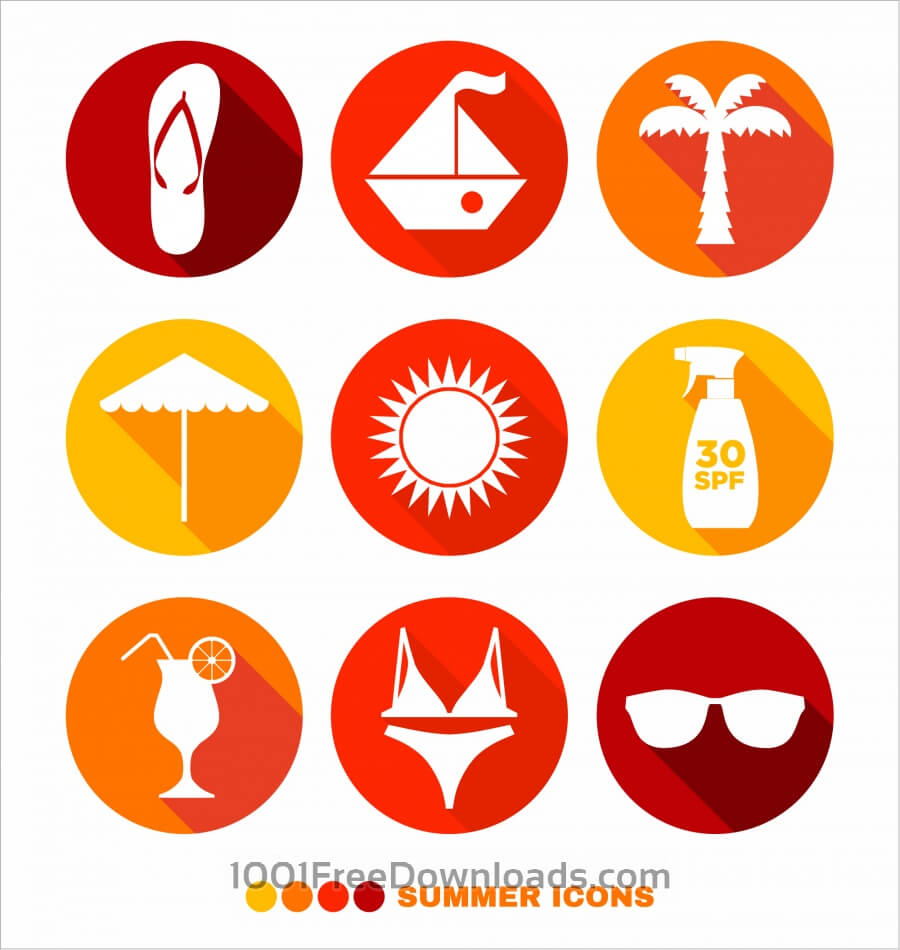 Free Summer abstract icons set