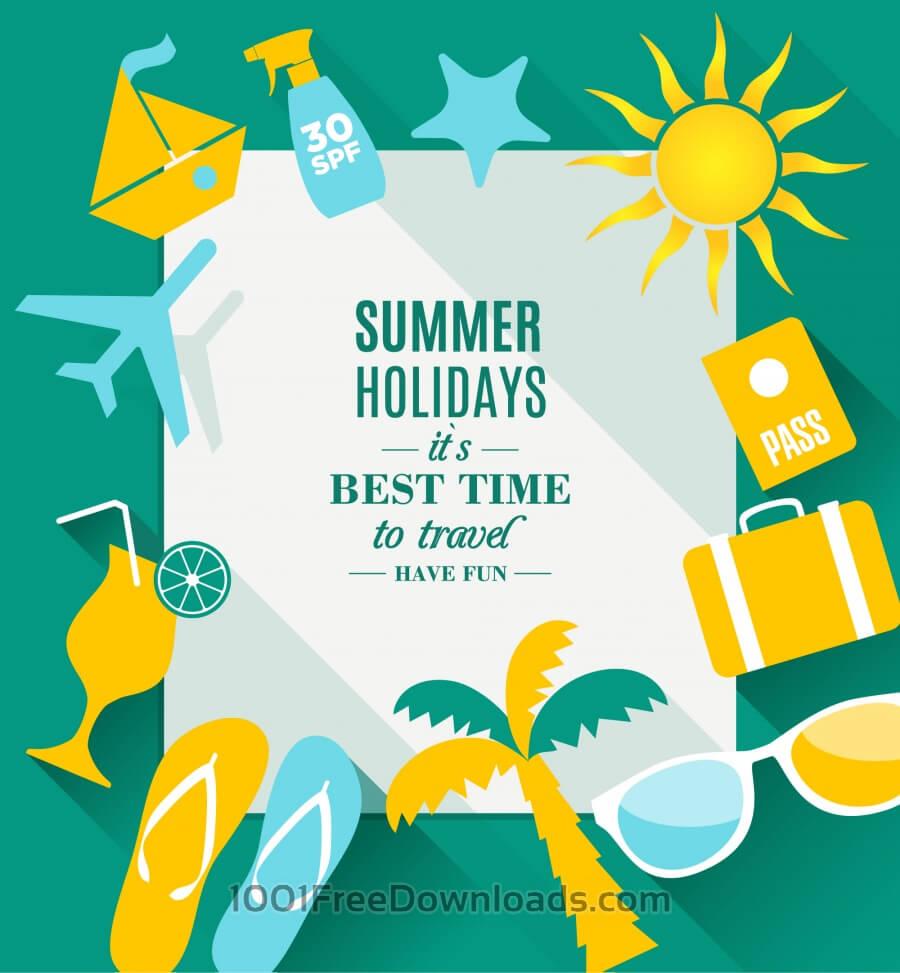 Free Vectors: Summer holidays texture | Holidays