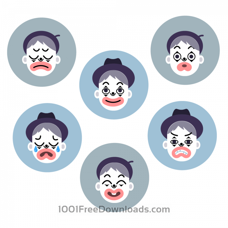 Free Mime emotion faces