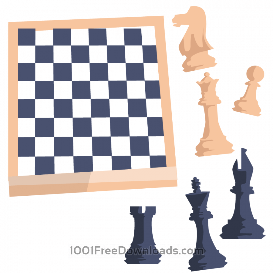 Free Vectors: Chess board with figures | Abstract