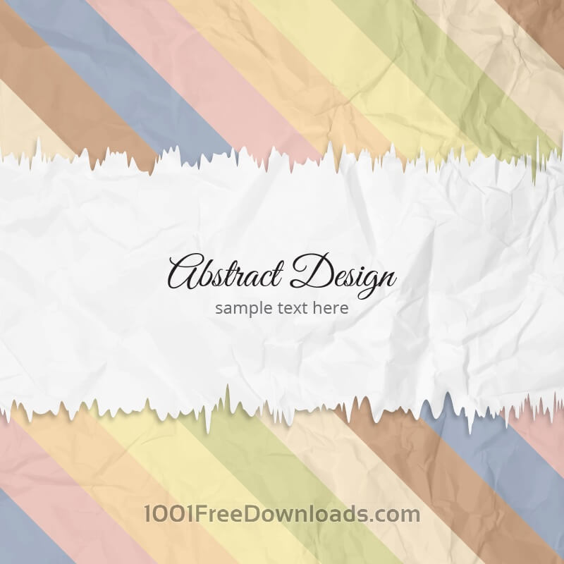 Free Torn crumpled paper vector