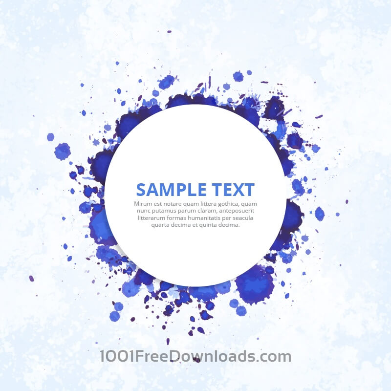 Free Modern badge with blue ink splashes