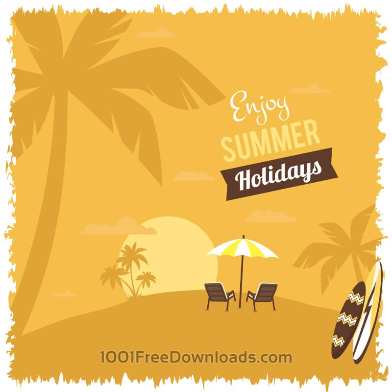 Free Vectors: Summer beach illustration | Abstract