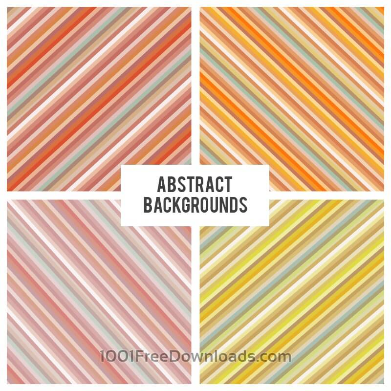 Free Vectors: Diagonal strokes backgrounds set | Abstract