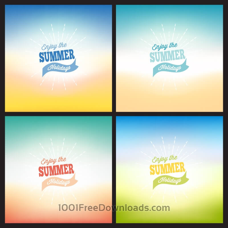 Free Summer blurred backgrounds set