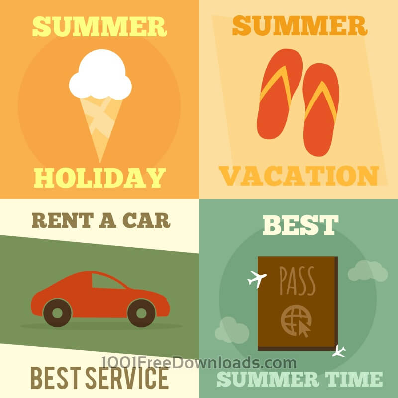 Free Vectors: Summer posters | Abstract