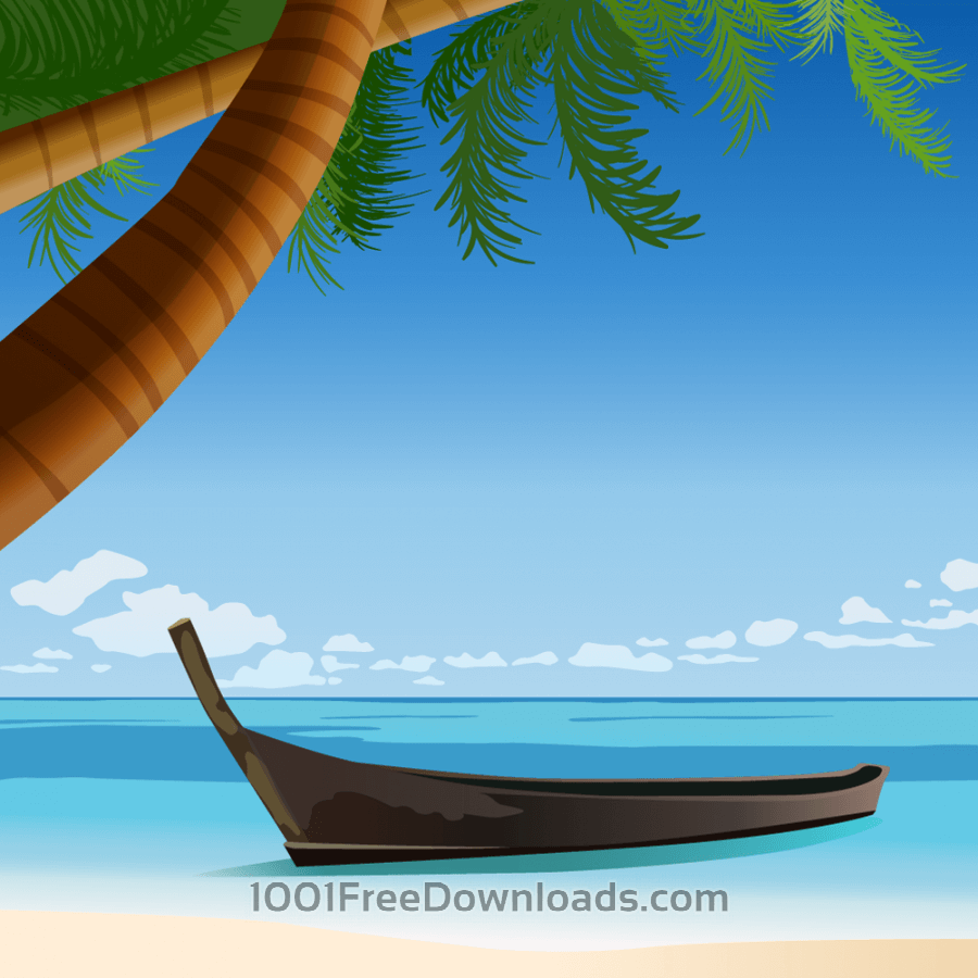 Free Vectors: Tropical beach | Holidays