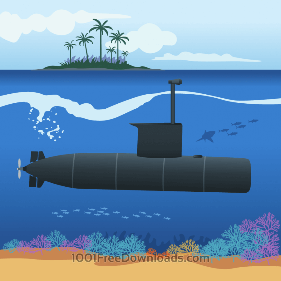 Free Vectors: Submarine | Nature