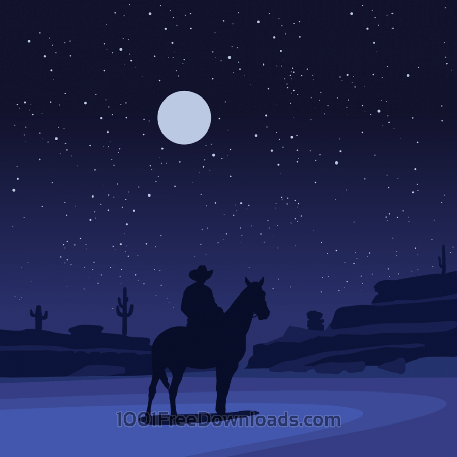 Free Vectors: The lone ranger | Vintage